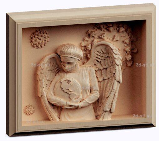 3d stl модель-панно медик- Ангел хранитель