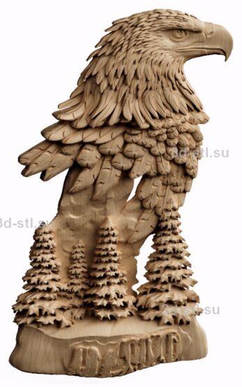 3d stl модель-панно Горный Орел