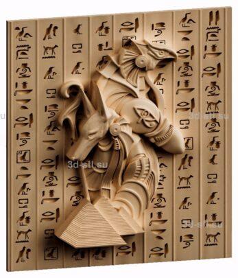 3d stl модель-панно Египетские боги