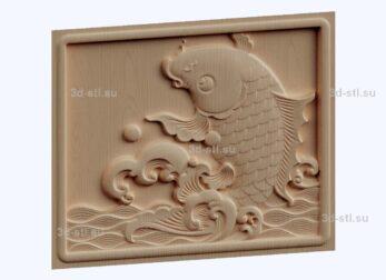 3d stl модель-рыба панно № 1185