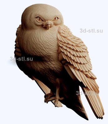 3d stl модель-птица панно № 1214