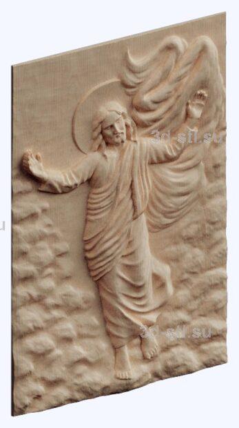 3d stl модель-Христос ходит по воде панно
