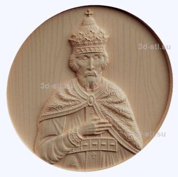 3d stl модель-Царь Иван панно