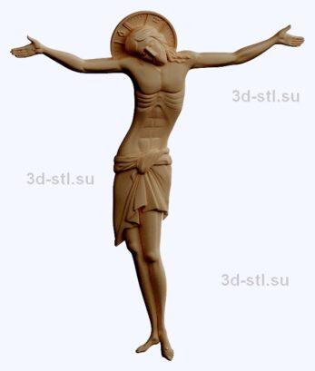 3d stl модель-распятие