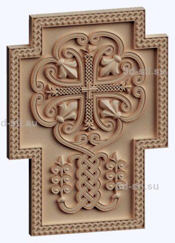 3d stl модель-крест