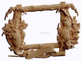 3d stl модель-Рамка № 494