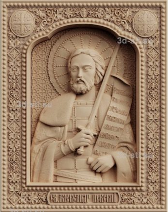 stl модель-икона  Святой князь Александр Невский