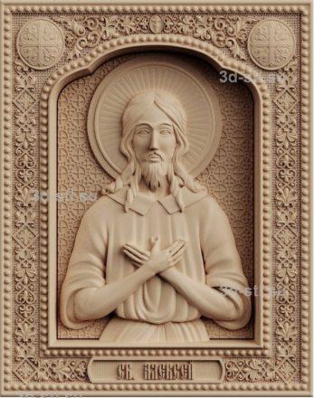 stl модель-икона Святой Алексей