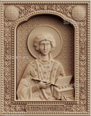 stl модель-икона Святой Пантелеймон Целитель