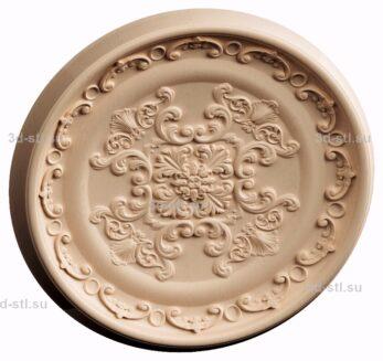 3d stl модель-Тарелка декоративная № 021