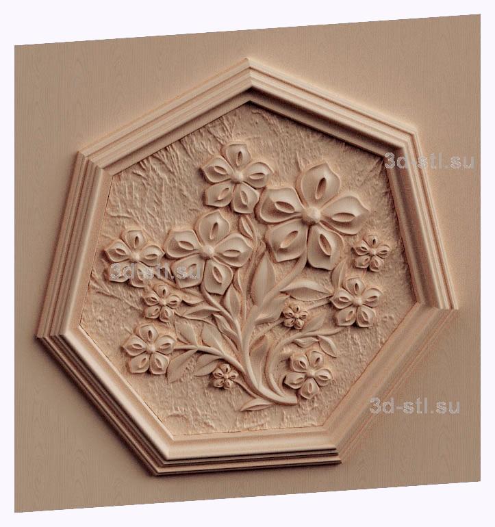 3d stl модель-Тарелка декоративная № 497