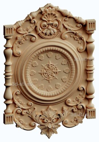 3d stl модель-Часы  № 188