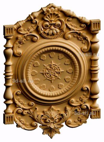 3d stl модель-Часы  № 189